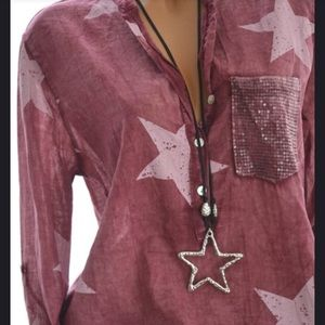 Silky sheer summer shirt. New